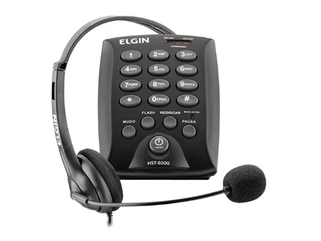 Telefone Headset HST-6000 Elgin