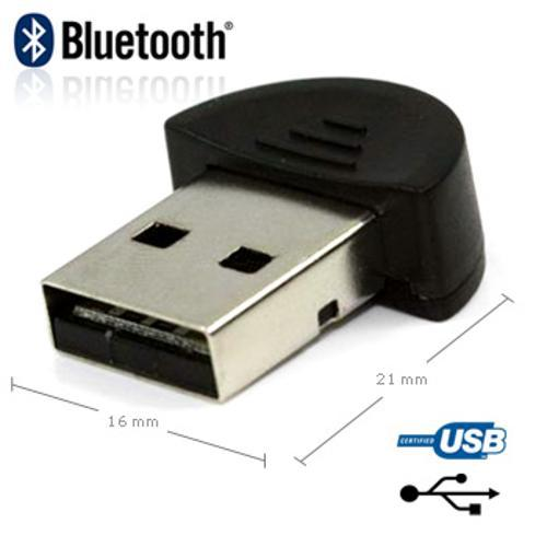 Adaptador compacto Bluetooth 2.0 USB Dongle